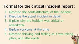 Critical Incident Technique For Nursing