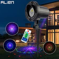 alien remote outdoor laser motion static 12 patterns rgb garden laser light holiday tree decor