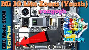 Xiaomi Mi 10 Lite Zoom ISP EMMC PinOUT   Test Point   EDL Mode 9008