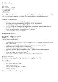 40 Cleaning Resume Samples Sweep40 Stunning Cleaner Resume