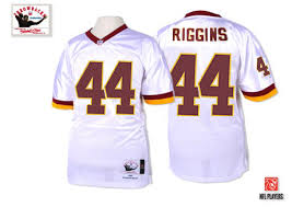 Nfl Riggins Road Throwback Sale Redskins Washington 44 Mitchell And John Ness Men's Jersey White Jerseys Authentic