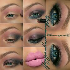 smolder your way to the dance floor with this y teal smokey eyes pair it with pink lips for a sultry pout recreate the look with the help of this