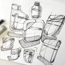 industrial design sketches. Pensar_sketch_warmup_14 03 19_900 · Copic Cosmetic Containers Fineliner Flask Industrial Design Packaging Rendering Sketching Sketches S