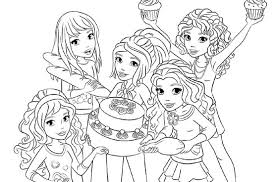 Coloring Page Coloring Sheets Lego Friends Party Lego Friends