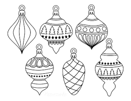 Coloring pages for kids christmas ornaments coloring pages. Printable Christmas Ornaments Coloring Pages And Templates