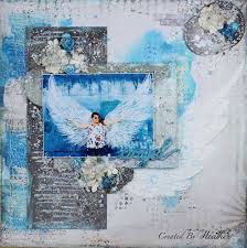 Angel Mixed Media Layout for Creative Inspiration Magazine | Heather's  Creations – Inside and Out
