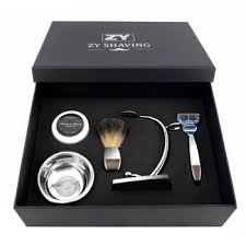 men shaving razor gift set 3 5 blade safety razor badger hair brush shaving razor