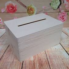 details about lockable natural wooden drop box wedding guests wish post box with slot funeral