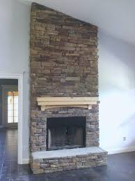 veneer fireplace stone fireplaces mccmatric school panels refacing a with dry stack stone veneer fireplace
