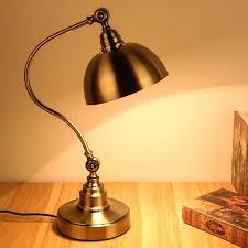 Bedside Table Reading Lamps Exquisite Style Vintage Light Antique Brass Lamp Retro Bronze Uk