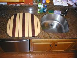 Sink With Cutting Board Hand Made Over The Sink Cutting Board By The Plane Edge Llc