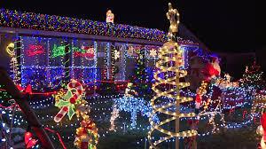Best Neighborhood Christmas Lights Indianapolis Speedway Familys Amazing Christmas Lights Display Attracts