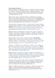 Peer Reviewed Publications Naden, P.S.; Murphy, J.F.; Old, G.H.; Newman,  J.; Scarlett, P.; Harman, M.; Duerdoth, C.P.; Hawczak,