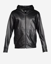 y 3 leather hoo coats jackets man y 3 adidas