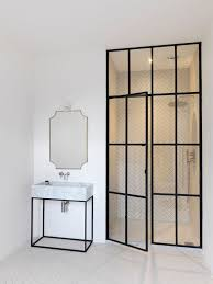 shower doors of austin with contemporary bathroom and black glass trim for shower black vanity gold