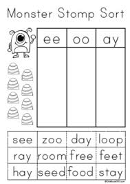 Complete no prep curriculum materials that kids will enjoy using in the classroom. First Grade Phonics Monster Stomp Game And Worksheets Blends And Diagraphs