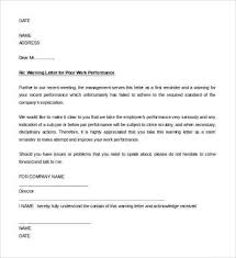 Employee Warning Letters Template 30 Hr Warning Letters Pdf Doc Free Premium Templates