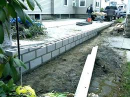interior retaining wall cost estimate concrete block wall costs image of building a cinder block