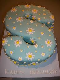 Daisy Covered Letter Cake Georginas Cakes