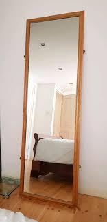wooden frame full length mirror