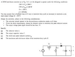 Discontinuous Conduction Mode Buck Converter Design A Dcm Buck Boost Converter As In Fig 5 21 Is To B