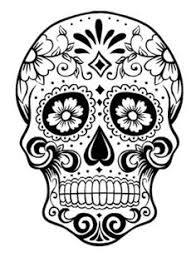 Small Picture Sugar Skull Coloring Pages Printable Coloring Pages skull