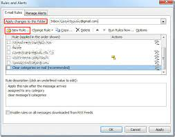 outlook 2010 auto forward email messages