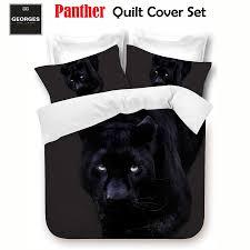 black panther big cat quilt doona duvet cover set single double queen king