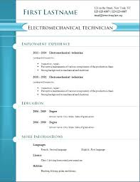 Professional Resume Template Free Download Resume Templates Free