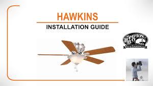 hawkins ceiling fan installation guide