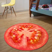 68 realistic round tomato pattern design washable blended decorative