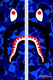 supreme wallpaper blue