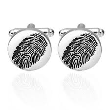 Fingerprint Design Us 2 18 20 Off Novelty Cufflinks Fingerprint Design Round Silver Cufflinks Personality Mens Shirt Cufflinks High Quality Wedding Cufflinks In Tie