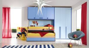 Small Children Bedroom Furniture Kids Bedroom With Wooden Bed And White Crib Placed On