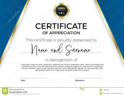 Certificate Of Appreciation Or Achievement With Award Badge