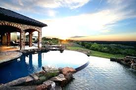 infinity pool backyard. Exellent Pool Infinity Pool Backyard Landscaping Design Ideas Amazing Near  Swimming Fireplaces Designs Throughout