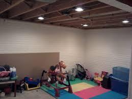 lighting basement. after recessed lighting basement