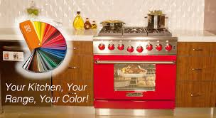 custom professional ranges with your color choice