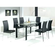 dining table set 6 seater dining table set 6 black glass dining table and 6 chairs
