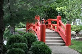 Japanese Style Garden Bridges Fine Red Japanese Garden Bridge R And Inspiration