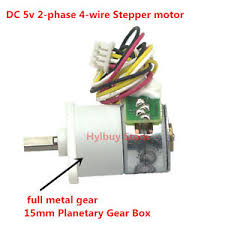 dc 5v 6v 2 phase 4 wire stepper motor full metal gear box precision image is loading dc 5v 6v 2 phase 4 wire stepper