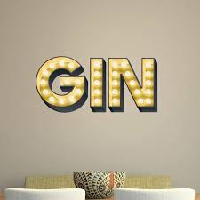 gin light up letters effect wall sticker