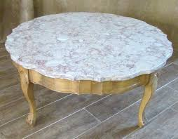 retro round coffee table marble top coffee table vintage round high rose beige antique retro glass