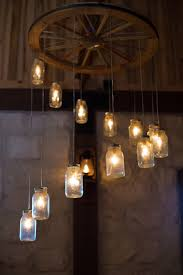 spiral wagon wheel mason jar chandelier lighting ideas for 2016 new year lighting fixture 2016 indoor decorations