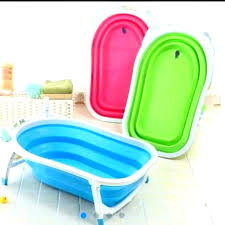 portable bathtub for shower stall collapsible baby and pets or grab bar fo