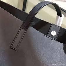 women new smooth plain leather designer handbags open design black soft leather 38x28x13cm