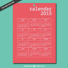 Simple Calendar Template 2015 Red 2015 Calendar Nohat
