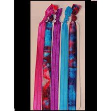 Headbands Fold Over Elastic 10 Pack Tie Dye