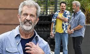 Mel Gibson, 65, is a silver fox as he ...