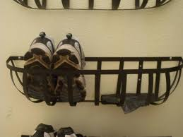 Shoe Organizer On Wall Wall Mounted Shoe Rack Inspired Mudroom Under 100 Part 1